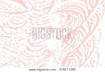 Grunge Texture. Distress Pink Rough Trace. Fair Background. Noise Dirty Grunge Texture. Quaint Artis