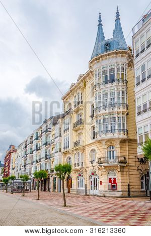 Castro Urdiales,spain - May 17,2019 - In The Streets Of Castro Urdiales Town. Castro Urdiales Is A S