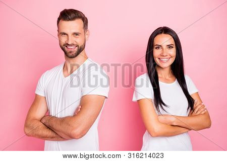 Portrait Of His He Her She Two Nice-looking Attractive Lovely Charming Content Cheerful Cheery Spous