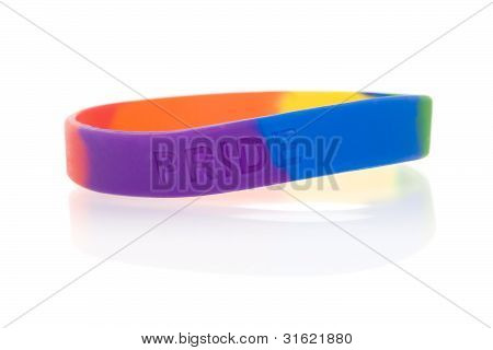 Isolated Objects: Rainbow Wristband