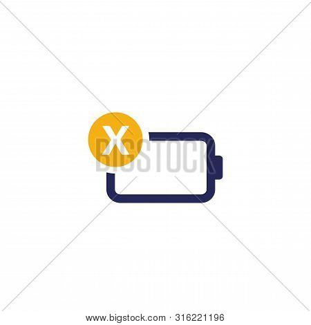 Discharged Battery Icon Design. Battery Level Indicator. Status Battery Icons. Electric Battery Vect