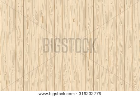 Vector Wooden Texture. Vertical Veneer Planks. Natural Background For Flat Lay