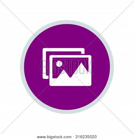 Gallery Icon, Gallery Icon Circle, Gallery Icon Round. Gallery Icon Trendy And Modern Gallery Symbol