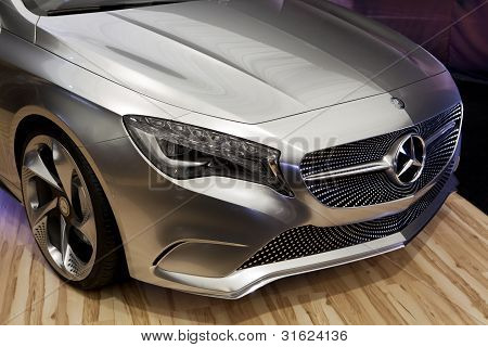 Bucharest Romania - April 8: Bucharest Auto Show (siamb), Mercedes Benz A Class Concept Close Up