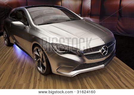Bucharest Romania - April 8: Bucharest Auto Show (siamb), Mercedes Benz A Class Concept Close Up