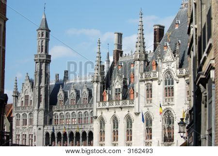 Neo-Gothic Provincial Court In Bruges. (Belgium)