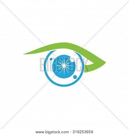 Eye Care Health Logo Design Template Vector Icon