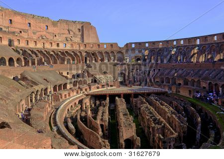 Colosseum, Rome, Interior