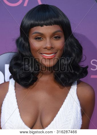LOS ANGELES - AUG 05:  Tika Sumpter arrives for the ABC's Summer TCA All Star Party on August 05, 2019 in West Hollywood, CA