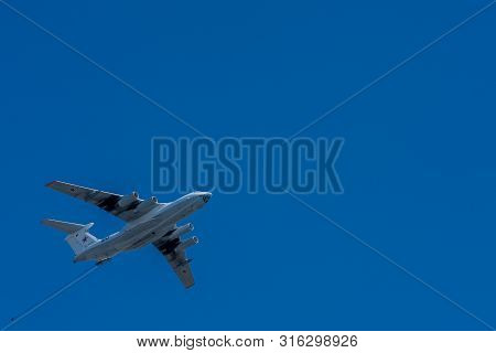 Moscow, Russia - May 09, 2014: Il-78 Is A Soviet Tanker Aircraft.. Aviation Part Of Victory Parade 2