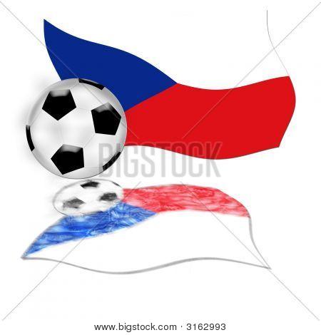 Football Flag Czech Republic