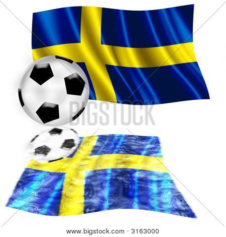 Football Flag Sweden