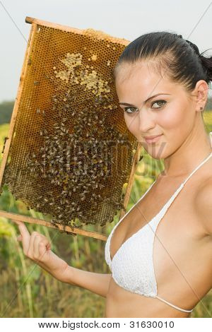 The Girl On An Apiary