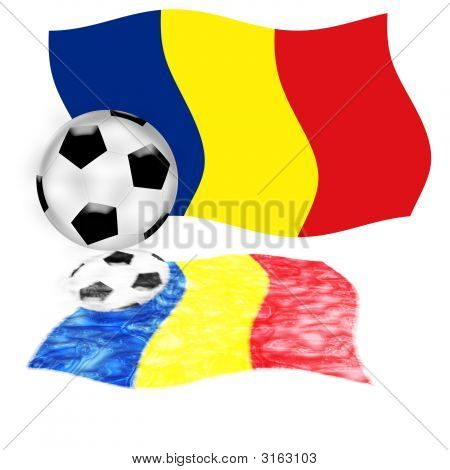 Football Flag Romania
