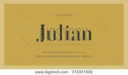 Elegant Classic Alphabet Letters Font And Number. Vintage Lettering Minimal Fashion Designs. Typogra