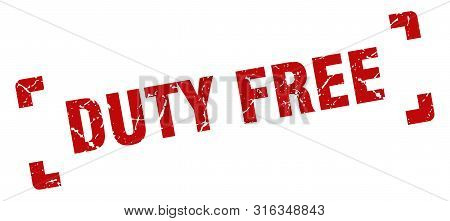 Duty Free Stamp. Duty Free Square Grunge Sign. Duty Free