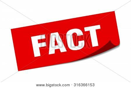 Fact Sticker. Fact Square Isolated Sign. Fact
