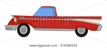 Vintage Automobile, 50s Retro Muscle Car, 1950s Transport