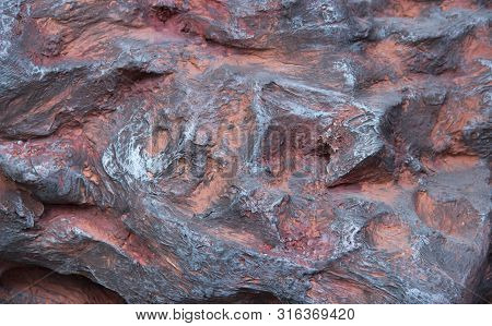 Wild Nature Stone Rock Texture Volcanic. Abstract Nature Texture.