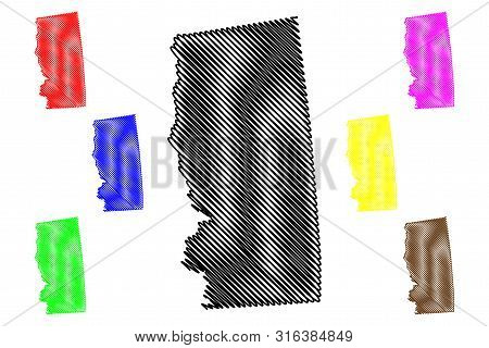 Grimes County, Texas (counties In Texas, United States Of America,usa, U.s., Us) Map Vector Illustra