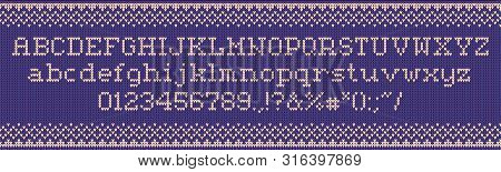 Ugly Sweater Font Vector Photo Free Trial Bigstock