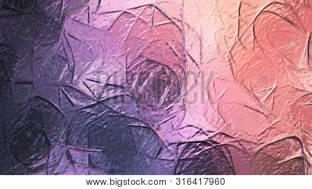 Abstract Intricate Glossy Fractal Texture , Metallic Multicolored Texture , Holographic Iridescent S