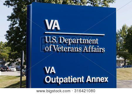 Ft. Wayne - Circa August 2019: Veterans Affairs Outpatient Annex Signage. The Va Provides Healthcare