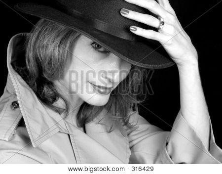 Woman Of Shadows Bw
