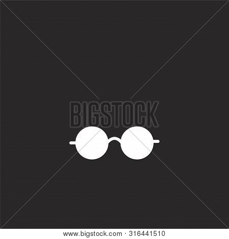 Eyeglasses Icon. Eyeglasses Icon Vector Flat Illustration For Graphic And Web Design Isolated On Bla