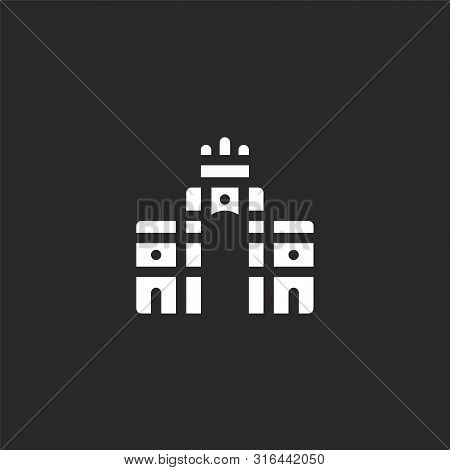 Rua Augusta Icon. Rua Augusta Icon Vector Flat Illustration For Graphic And Web Design Isolated On B