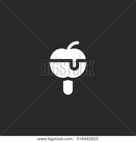 Caramelized Apple Icon. Caramelized Apple Icon Vector Flat Illustration For Graphic And Web Design I
