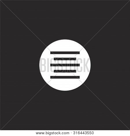 Center Alignment Icon. Center Alignment Icon Vector Flat Illustration For Graphic And Web Design Iso