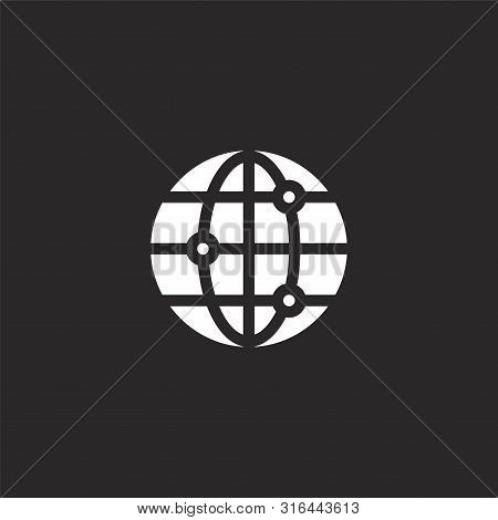 Connect Icon. Connect Icon Vector Flat Illustration For Graphic And Web Design Isolated On Black Bac