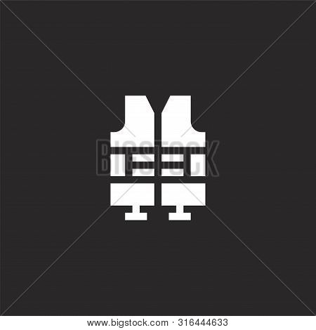 Life Jacket Icon. Life Jacket Icon Vector Flat Illustration For Graphic And Web Design Isolated On B