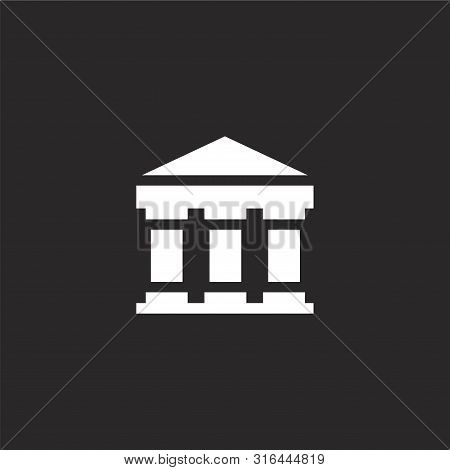 Pantheon Icon. Pantheon Icon Vector Flat Illustration For Graphic And Web Design Isolated On Black B