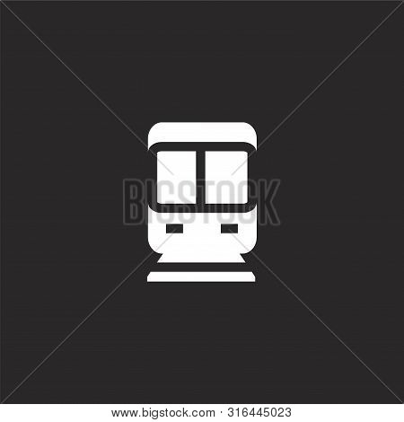 Subway Icon. Subway Icon Vector Flat Illustration For Graphic And Web Design Isolated On Black Backg
