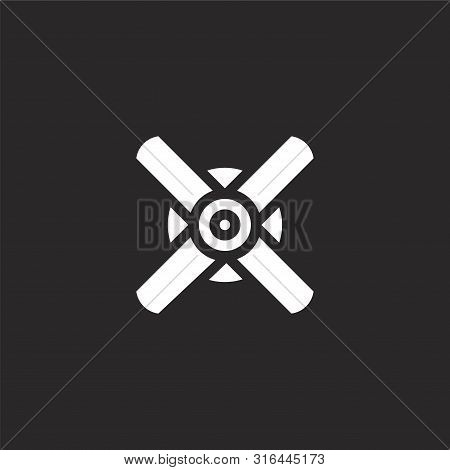 Ceiling Fan Icon. Ceiling Fan Icon Vector Flat Illustration For Graphic And Web Design Isolated On B