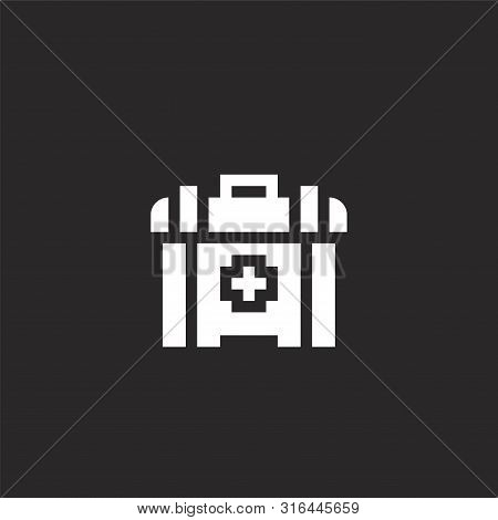 First Aid Kit Icon. First Aid Kit Icon Vector Flat Illustration For Graphic And Web Design Isolated