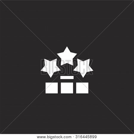 Valuation Icon. Valuation Icon Vector Flat Illustration For Graphic And Web Design Isolated On Black