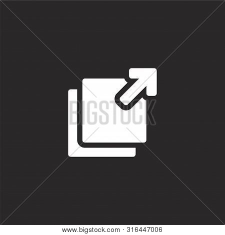 Maximize Icon. Maximize Icon Vector Flat Illustration For Graphic And Web Design Isolated On Black B