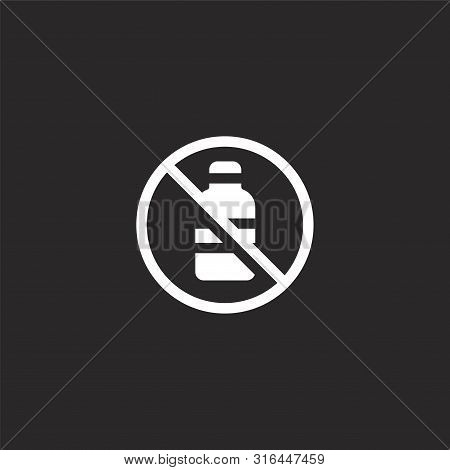 No Alcohol Icon. No Alcohol Icon Vector Flat Illustration For Graphic And Web Design Isolated On Bla