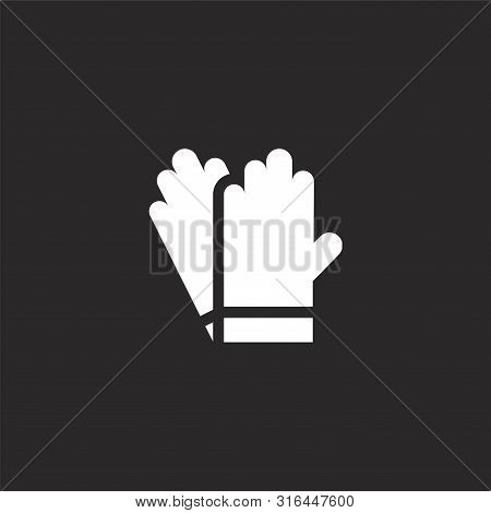 Cleaning Gloves Icon. Cleaning Gloves Icon Vector Flat Illustration For Graphic And Web Design Isola