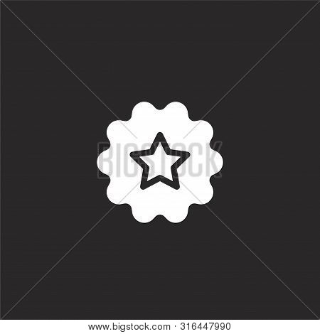 Recommended Icon. Recommended Icon Vector Flat Illustration For Graphic And Web Design Isolated On B