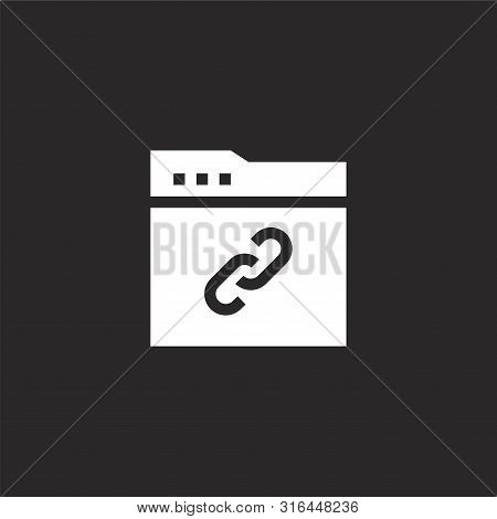 Link Icon. Link Icon Vector Flat Illustration For Graphic And Web Design Isolated On Black Backgroun