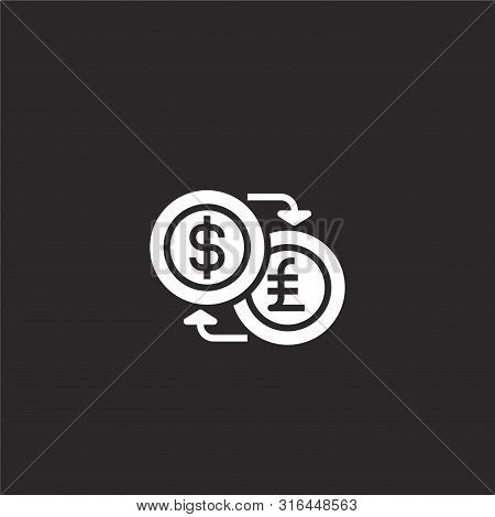 Exchange Icon. Exchange Icon Vector Flat Illustration For Graphic And Web Design Isolated On Black B