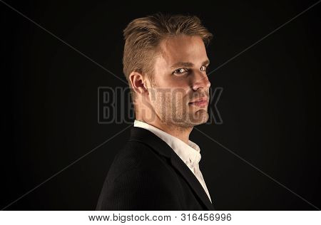 Businessman Hair Groomed Face. Stylish And Modern Appearance. Well Groomed Macho. Perfect Style. Hai