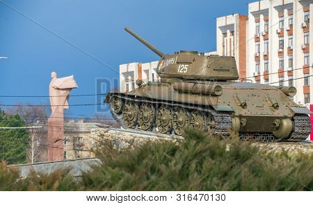 Tank Monument In Tiraspol, Moldova