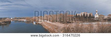 Dniester River In Tiraspol, Transnistria