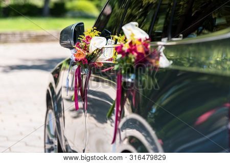 Wedding Bouquet On New Wedding Car! Wedding!