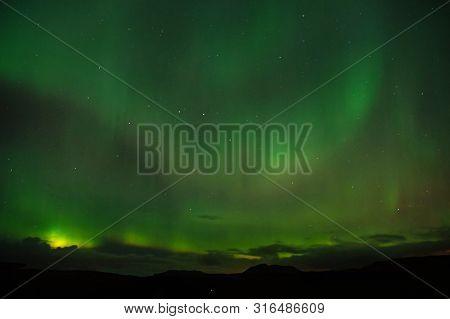 Best Place See Aurora Borealis. Nature Miracles. Aurora Dark Sky. Amazing Nature Phenomena. When Is